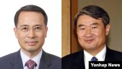 청와대는 19일 신임 외교안보수석에 내정된 김규현(왼쪽) 국가안보실 1차장을 내정했다. 또 국가안보실 1차장에는 조태용 외교부 1차관을 내정했다.