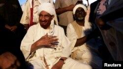 FILE - Sudanese leading opposition figure Sadiq al-Mahdi is pictured in Khartoum, Dec. 19, 2018.