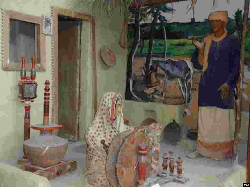 میوزیم میں پاکستان کی دیہی ثقافت کے رنگ بھی دیکھے جا سکتے ہیں۔