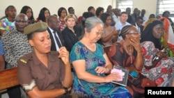 "Pengusaha China, Yang Feng Glan yang dijuluki ""Ratu Gading"", duduk di dalam Pengadilan Magistrate Residen Kisutu di Dar es Salaam, Tanzania, 19 Februari 2019."