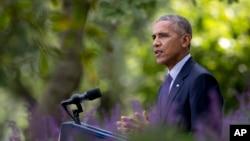 Tổng thống Barack Obama hoan nghênh Hiệp định Paris về biến đổi khí hậu sẽ có hiệu lực về mặt pháp lý vào ngày 4/11.
