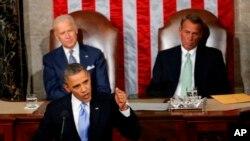 Picha ya Maktaba; Rais Barack Obama wa Marekani akilitubia taifa kupitia Bunge