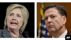 FILE - No charges are warranted over Democratic presidential candidate Hillary Clinton's handling of email as secretary of state, FBI Director James Comey said Tuesday.