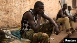 FILE - A man reacts in the RDOT camp where some of the last remaining ex-Seleka fighters are sheltering, guarded by peacekeeping forces. (File)