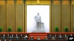 2005년 4월 11일 평양 만수대의사당에서 열린 북한 최고인민회의 장면(자료사진)