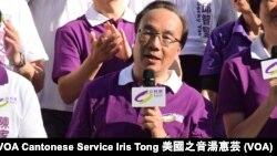 香港公民黨黨魁梁家傑 (美國之音湯惠芸攝)