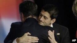 Митт Ромни и Пол Райан после проигрыша на президентских выборах. Бостон. 7 ноября 2012 г.