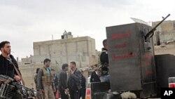 29일 시리아 홈스 시 반군 세력.