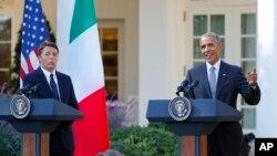 Барак Обама и Маттео Ренци