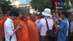Police Block Monks from Delivering Petition To King