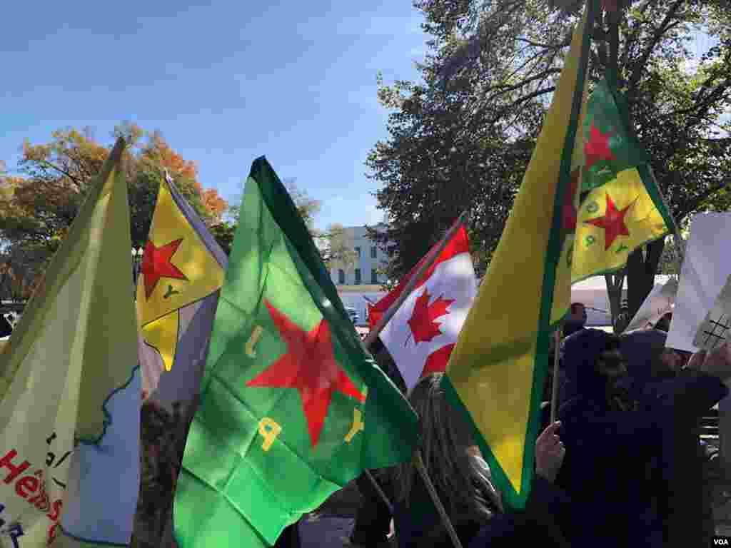 Protestoya Kurdan Û Dostên Wan li Hember Qesra Spî li Dij Serdana Erdogan 13 11 2019