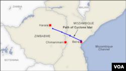 Inzira y'igihuhusi Idai kuva muri Mozambique, Malawi no muri Zimbambwe