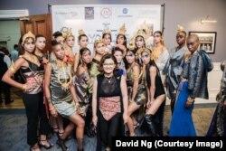 Thai designer Thunyatorn Ng at her first New York Fashion Week in 2017.
