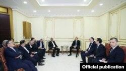 İlham Əliyev və Eshaq Cahangiri