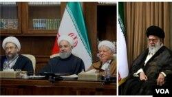 علی خامنهای، هاشمی رفسنجانی، حسن روحانی و صادق لاریجانی