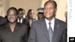 Les opposants Henri Konan Bédié et Alassane Ouattara