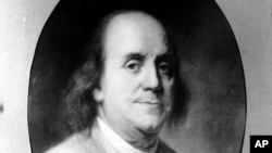 An undated sketch of Benjamin Franklin — inventor, scientist, diplomat and signer of U.S. Constitution. Franklin designed the lightning rod atop Maryland's State House.