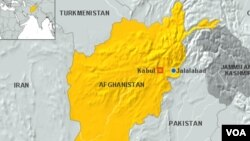 Map of Jalalabad, Afghanistan