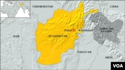 نقشه جلالآباد، افغانستان