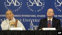 1일 김정일 북한 국방위원장 사망 후 미-북 관계와 남북관계를 주제로 미국 존스홉킨스 대학 국제대학원(SAIS)에서 열린 토론회