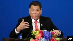 菲律宾总统杜特尓(资料照)