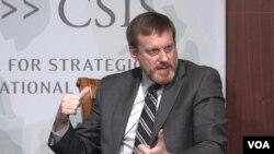 마이클 로저스 전 미국 국가안보국(NSA) 국장이 27일 워싱턴 전략국제문제연구소(CSIS) 토론회에 참석했다.
