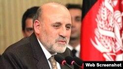 محمد عمر داود زی سر پرست وزارت داخله افغانستان (ارشیف)