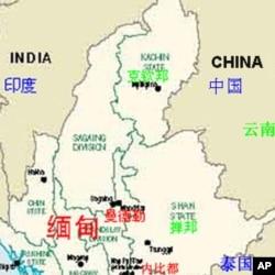 中印缅交界地区示意图