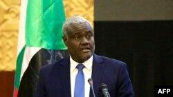 Presidente da Comissão da UA, Moussa Faki Mahamate, Fev. 5, 2019.