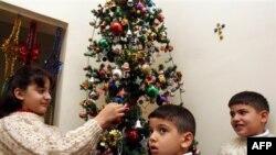 Иракские дети празднуют Рождество Христово. Басра (архивное фото)