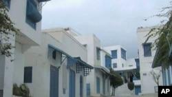 Empty streets in Tunisia's seaside resort of Hammamet