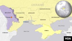 Moldova, highlighting Transnistria