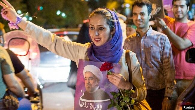 Həsən Ruhani tərəfdarlarının seçki kampaniyası