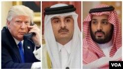 تماس رهبران قطر و عربستان بعد از تماس تلفنی و وساطت پرزیدنت ترامپ ممکن شد.