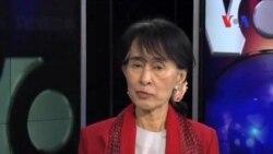 Аун Сан Су Чжи в Вашингтоне