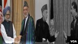 카르자이 아프간 대통령이 파키스탄과의 갈등속에 인도를 방문하고 있다