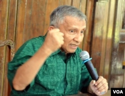 Muhammad Amien Rais di kediamannya Pandeyan Sari, Condong Catur, Sleman Yogyakarta (foto: dok).