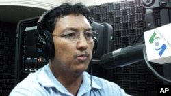"Moeun Chhean Nariddh, director of the Cambodia Institute for Media Studies, on ""Hello VOA"" Thursday."