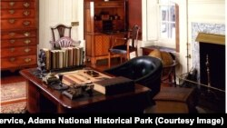 John Adams home study in Massachusetts. National Park Service, Adams National Historical Park