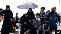 برخی ازمهاجرین در یونان
