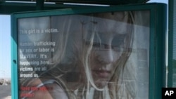 Iklan layanan masyarakat mengenai perdagangan manusia yang diluncurkan oleh Kejaksaan Agung New Mexico, AS. (Foto: Dok)