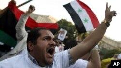 반정부 시위를 벌이는 시리아 국민들 (자료사진)