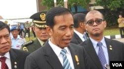 Presiden Jokowi di Lanud Halim Perdanakusuma Jakarta (Foto: dok).