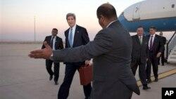 Держсекретар Джон Керрі прибуває до Аммана