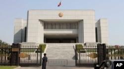 북한 평양의 법원 건물. (자료사진)