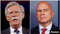 白宫宣布博尔顿(左)接任麦克马斯特出任总统国安顾问(路透社)