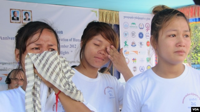 Three women who were injured in a shooting at a garment worker strike earlier last year say they have not received justice from the court and are demanding action, file photo.