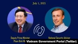 Phó Thủ tướng Việt Nam Phạm Bình Minh và Cố vấn An ninh Quốc gia Mỹ Jake Sullivan điện đàm hôm 1/7 về việc tăng cường hơn nữa quan hệ đối tác toàn diện giữa hai nước.