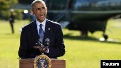 Tổng thống Obama nói về cuộc không kích nhóm IS ở Syira trước khi đi New York để dự cuộc họp của Liên hiệp quốc, 23/9/14