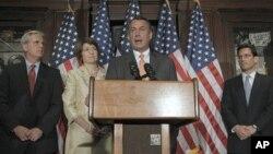 眾議院議長約翰.貝納提出的債務上限方案星期四將會進行投票。